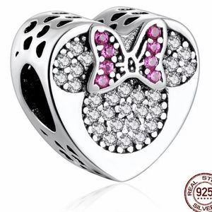 925 Sterling Silver Minnie/Mickey Charm